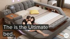 The ultimate bed comes with an integrated massage chair, bluetooth speakers, a pop-up desk to work right in bed, a reading light, an area to charge devices Modern Luxury Bedroom, Luxurious Bedrooms, Master Bedroom Design, Master Bedrooms, Boho Bed Frame, New Bed Designs, Smart Bed, Dressing Room Design, Music System
