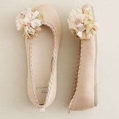 Crew cuts ribbon flower ballet flats. Apparently these are in girls sizes, but they are very cute and I'd like them in women's sizes for myself!