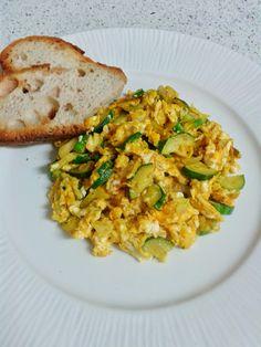Cozinhar com menos G.A.S.: Ovos com curgete