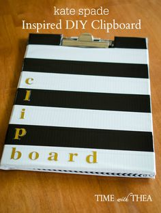 Kate Spade Inspired DIY Clipboard