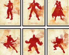 Vintage Spiderman Poster. Digital Print. Superhero by 2ToastDesign