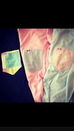Cute pocket preppy shirts