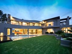 5 bedroom house for sale in Sandton with open-plan reception areas to the patio, and South African Homes, Stacking Doors, Luxury Portfolio, 5 Bedroom House, Mansions For Sale, Property Search, Open Plan, Property For Sale, Luxury Homes