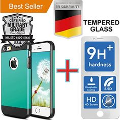 #iPhone 5 White [Heavy Duty] Case  [Tempered Glass] Screen Protector [Hybrid] Cover [Shock Absorbent] Dirt Dust Snow [Dual Layer] Plastic Protection [Rubber Skin] Impact Armor [Scratch Proof]