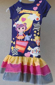 Lalaloopsy Dress Peanut Big Top  LAST ONE by bellaNbruiser on Etsy