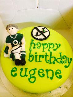 Irish rugby birthday cake Birthday Cakes, Happy Birthday, Irish Rugby, Baking, Desserts, Food, Anniversary Cakes, Happy B Day, Tailgate Desserts