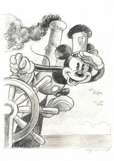 Fernandez, Tony - Original Drawing - Mickey Mouse - Steamboat Willie - W.B.
