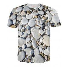 KAMYKI Koszulka T-Shirt Full Print 3D Krótki Rękaw