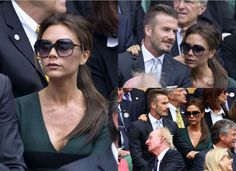 David Beckham and Victoria Beckham sit in the Royal Box during the Gentlemen's Singles final match between Roger Federer of Switzerland and Andy Murray of Great Britain on day thirteen of the Wimbledon Lawn Tennis Championships at the All England Lawn Tennis and Croquet Club on July 8, 2012 in London, England.