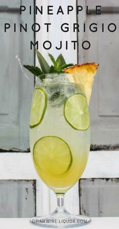 Spring is in the air and what better way to celebrate than with sipping on a Pineapple Pinot Grigio Mojito! This flavor profile is perfect for mixing into a cocktail that explores tropical flavors like the pineapple in this mojito. This fresh Anew Wine cocktail will complement any spring party or occasion.