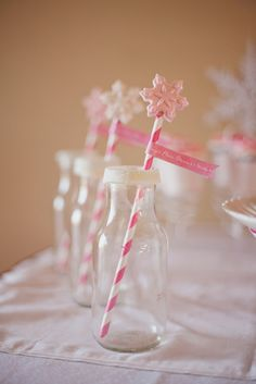 Such pretty drinks at a Nutcracker party! See more party ideas at CatchMyParty.com! #partyideas #nutcracker