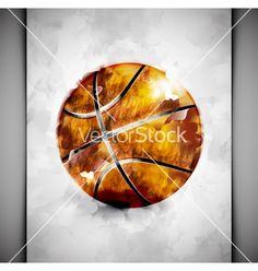 Basketball ball watercolor vector
