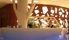 Take in the Lake Views at the New Ritz-Carlton Lake Club - Design Milk Monuments, Architectural Columns, Wood Panel Walls, Paneled Walls, Nice France, Club Design, Modern Interior Design, Interior Ideas, Architect Design