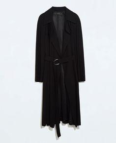 Image 7 of LONG FLOWY COAT from Zara