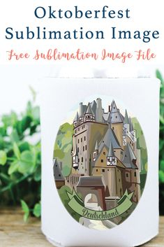 Use this FREE Sublimation Image from Everyday Party Magazine to create a fun can cooler for your Oktoberfest celebrations! #EverydayPartyMagazineSublimates #FreeSublimationFile #DIY