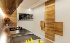Kitchen wall-mounted table and chairs1