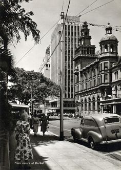Durban South Africa, Kwazulu Natal, Old Pictures, Historical Photos, East Coast, Art Images, Picture Photo, Street View, African