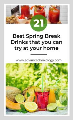 21 Best Spring Break Drinks: Cocktails to try at home. Cocktails To Try, Spring Cocktails, Fruity Cocktails, Christmas Cocktails, Margarita Recipes, Cocktail Recipes, Wine Recipes, Thanksgiving Drinks Non Alcoholic, Thanksgiving Punch