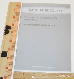 SPANISH INSTRUCTION MANUAL ONLY DYNEX WIRELESS BLURAY DISC PLAYER DX-WBRDVD1/CA