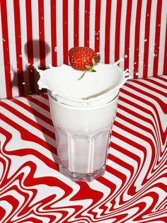 art direction | strawberry + milk food styling still life photography