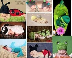 many Baby handmade knitted Costume photo Photography Prop muti-style free ship Knit Baby Booties, Knitted Baby, Loom Knitting Patterns, Crochet Pattern, Newborn Photo Outfits, Baby Shawl, Baby Layette, Baby Costumes, Knitting Accessories