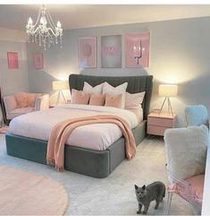 Cute Bedroom Decor, Bedroom Decor For Teen Girls, Cute Bedroom Ideas, Room Ideas Bedroom, Teenage Bedroom Decorations, Teen Bedrooms, Teen Bedroom Designs, Room Design Bedroom, Master Bedroom