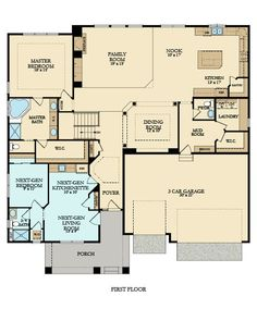 example of a multigenerational home layout - Lennar's NextGen which is awesome :)