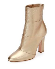 Metallic Leather 105mm Boot, Glam