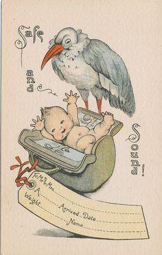 birth announcement postcards
