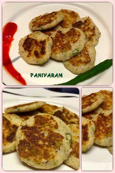 Paniyaram or Appe Indian Food Recipes, Vegan Recipes, Homemade Recipe, Indian Dishes, Vegetarian, Tasty, Popular, Traditional, Breakfast
