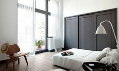 dark wainscot with white walls...cozy but bright