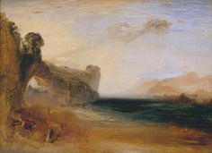 turner paintings tate | Joseph Mallord William Turner, 'Rocky Bay with Figures' c.1827-30
