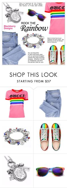 """""""Rock the Rainbow"""" by shambala-379 ❤ liked on Polyvore featuring Gucci and Essie"""