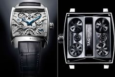 The front and back of the #Monaco V4 by #TagHeuer