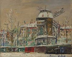 Sacre-Coeur and castle Brouillards - Maurice Utrillo - WikiArt.org