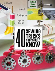 40 sewing tips you should knowhttp://andreasnotebook.com/2014/07/sewing-hacks.html#_a5y_p=2049861