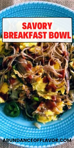 Savory breakfast bowl to make your brunch pop. Spice up your leftovers with fresh ingredients to create a unique take on your meal. Savory Breakfast, Breakfast Bowls, Breakfast Ideas, How To Cut Avocado, Savory Rice, Cheesy Grits, Lunch Menu, Morning Food, Healthy Options