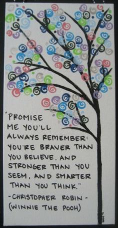 inspirational quote picture winnie the pooh personal strength