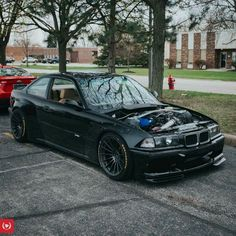 BMW E36 M3 black widebody