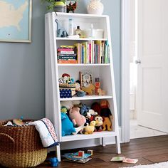 Graduated Tall Bookcase (White Shelves) in Bookcases | The Land of Nod