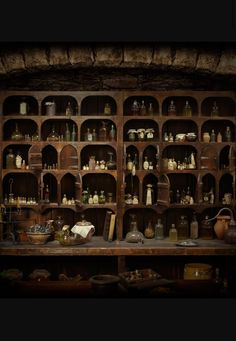 Can I just have my entire kitchen set up like this? Witch's apothecary