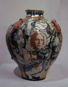 Two Children Born on the Same Day, by Grayson Perry.  1996, Earthenware  42 x 30 x 30 cm from www.saatchi-gallery.co.uk