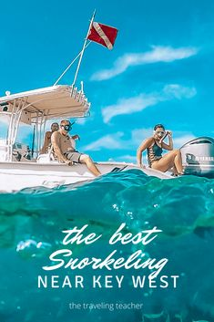 If you're headed to Key West, snorkeling should be on your list of top things to do, but you might be wondering, what's the best snorkeling near Key West? Details found here. #keywest #usatravel #snorkeling #floridakeys #florida