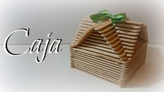 TUTORIAL: Caja fácil con palitos de madera | Caja Original | Mundo@Party Popsicle Crafts, Craft Stick Crafts, Diy Crafts, Craft Sticks, Lollipop Sticks, Popsicle Sticks, Stick Art, Elves And Fairies, Creative Crafts