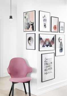 12 snygga sätt att inreda med posters | ELLE Decoration