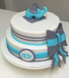 Baby shower cake - chocolate cake with chocolate BC