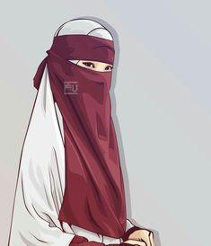I love hijab . Hijab Niqab, Muslim Hijab, Beautiful Muslim Women, Beautiful Hijab, Muslim Girls, Muslim Couples, Karton Design, Vector Character, Portrait Vector
