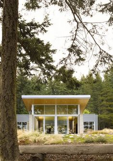 Contemporary Cabin with Intriguing Design Details in Washington State by Stuart Silk Architects.