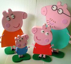 Familia Peppa Pig Gigante! Papai e Mamae com 50cm. Peppa com 35cm e George com 30cm!
