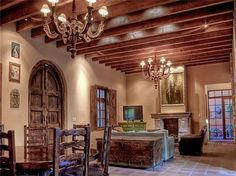spanish colonial living room | Living-dining room | Spanish Colonial
